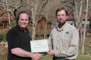 Joel Barrett receives Operational Tracker certificate